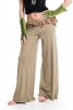 Wide Flare Lounge Pants, pixie flow trousers in Chai - TRBAS by Altshop UK