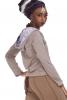 Organic Cotton Hoodie, Soft Comfortable Slouchy Pullover in Grey - My Guru Hoodie (TRT437) by Altshop UK