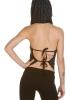 Ladies Rockabilly Boho Cowl Neck Polka Dot Hood Top in Black - Elisa Top (UF517) by Anki