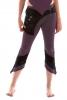 PIXIE LEGGINGS, psy trance yoga clothing - Lilac & Black