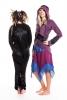 Pixie Ringmaster Jacket, hippie hooded fleece jacket - Purple