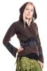 Pixie Ringmaster Jacket, hippie hooded fleece jacket - Stone