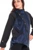 Pixie Hood Jacket in Velvet, Elven Clothing in Blue - Midnight Pixie Jacket (UF682V) by Anki