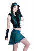 Velvet Pixie Armwarmers, Goa psy trance wrist warmers in Midnight Blue - Velvet Gauntlets (VELVAW) by Altshop UK