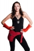 Velvet Pixie Armwarmers, Goa psy trance wrist warmers in Orange - Velvet Gauntlets (VELVAW) by Altshop UK