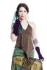 Velvet Pixie Armwarmers, Goa psy trance wrist warmers in Purple - Velvet Gauntlets (VELVAW) by Altshop UK