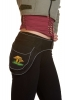 Mushrooms Side Pixie Pocket Belt, Festival Money Belt in Black - Toadstool Side Pocket (WAS7210) by Altshop UK