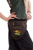 Mushrooms Side Pixie Pocket Belt, Festival Money Belt in Brown - Toadstool Side Pocket (WAS7210) by Altshop UK