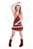 Woodland Spirit Minidress, doof hippie pixie summer dress - Chestnut