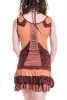 Woodland Spirit Minidress, doof hippie pixie summer dress - Chestnut