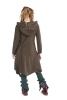 Pixie Fleece Fairy Jacket, Plus Size Psy Festival Cardigan in Brown - Polarize Cardigan (WCA1013) by Altshop UK