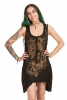 Psychedelic Festival Dress, racer back boho Goa festival dress in Black - Curandera Dress (WDR3211) by Altshop UK