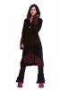 Velvet Boho Coat, Steampunk Corset Coat, Gothic Velvet Coat in Black - Lieben Coat (WDR3491) by Altshop UK