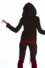 Fleece Boho Faery Pixie Jacket, Festival Gypsy Psy Jacket in Black - Kailash Jacket (WJK1312) by Altshop UK