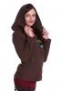 Fleece Boho Faery Pixie Jacket, Festival Gypsy Psy Jacket in Brown - Kailash Jacket (WJK1312) by Altshop UK
