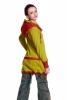 Boho Summer Psy Trance Jacket, Hooded Ladies Hippy Jacket in Lemon - Fae Fleece Jacket (WJK3082) by Altshop UK