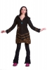 Boho Pixie Fleece Coat, Pixie Hood Jacket, Psy Trance Coat in Black - Ponsettia Coat (WJK4089) by Altshop UK