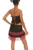 Lace Ruffle Flamenco Pixie Mini Skirt in Black & Pink - Dance Skirt (WSBUR) by Altshop UK