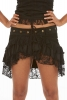Lace Ruffle Flamenco Pixie Mini Skirt in Black - Dance Skirt (WSBUR) by Altshop UK