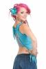 Floaty Open Back Fairy Rave Top In Aqua - Cheyenne Top (WSCHT) by Altshop UK