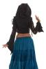 Lace-Up Angel Sleeve Pagan Pixie Crop Top in Black - Fairy Eyelet Top (WSEYET) by Altshop UK