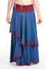Hippy Flow Skirt, long boho skirt, bohemian gypsy skirt in Blue - Chyna Skirt (WSK3260) by Altshop UK