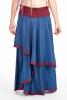 Hippy Flow Skirt, long boho skirt, bohemian gypsy skirt in Blue - Chyna Skirt (WSK3260) by Altshop UK