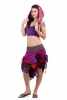 Ragged Pixie Skirt, steampunk skirt, psy doof skirt in Magenta - Raggle Skirt (WSK3261) by Altshop UK