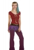 Braided Pixie Top, Psy Trance Slashed in Red - Ladder Top (WSLT10) By Altshop UK