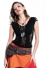Braided Psy Trance Top, pixie slashed top in Black - Double Ladder Top (WSLT11) by Altshop UK