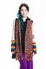 Warm and Cozy 100% Wool Mottled Rainbow Coloured Scarf - WS MRBWS