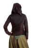 PIXIE HOODED JACKET, hippy festival hoodie - Black