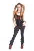 Ladies Boho Top, Hippy Pixie Psy Trance Top in Black - Princess Top (WSNK191) by Altshop UK