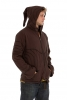 Mens Pixie Hood Cyber Psy Trance Jacket - Brown