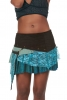 PIXIE POCKET MINISKIRT, psy trance skirt in Aqua - Namste Skirt (WSSK04) by Altshop UK