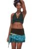 PIXIE POCKET MINISKIRT, psy trance skirt in Aqua - Namste Skirt (WSSK04) by Altshop UK