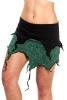 PIXIE TENDRILS SKIRT - Black & Turquoise