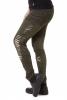 Slashed Mandala Tribal Steampunk Leggings in Green - Beast Leggings (WTR5119) by Altshop UK